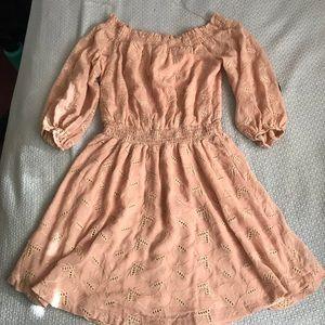 ASTR The Label Blush off the Shoulder Dress
